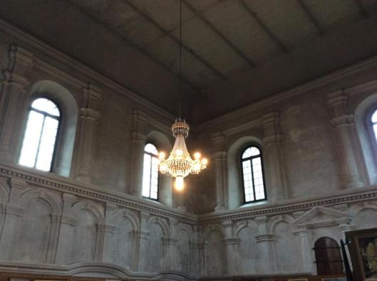 The interior of the Lesko Synagogue. It is used as an art gallery. During my last trip to Lesko, I learned that the gallery is closed from fall to spring because the building has no heat.