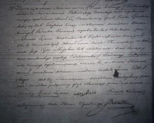 Hiel Mayer Piwko's birth certificate, 1854
