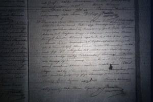 Hiel Majer Piwko's birth certificate, 1854