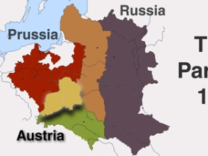 Map source and more information about the partitions of Poland: http://www.britannica.com/EBchecked/topic/466910/Partitions-of-Poland