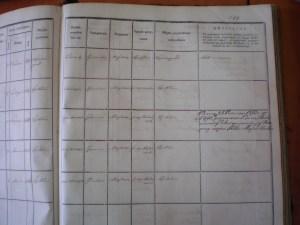 Żychlin Book of Residents, Walfisz family second half.