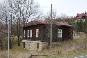 A former Jewish home across the street from the school in Lutowiska