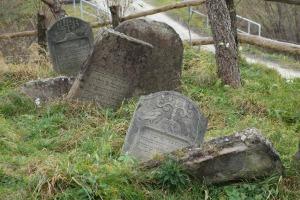 Tombstones in the Lutowiska Jewish Cemetery