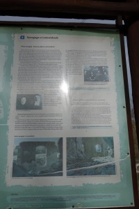 Information sign next to the synagogue, Lutowiska