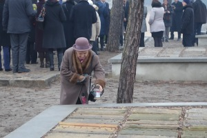 Placing a lantern at the opening of the Lapidarium in Wronki