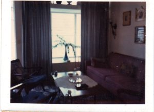 A bad photo, but one of the few I have of Babcia's apartment on Riverside Drive, showing her Madonna in a gilded frame.
