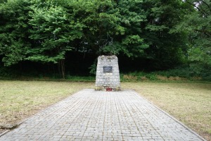 Monument at the site of mass murders in Zasław, near Zagórz