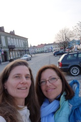 Krysia and me in Skierniewice, the birthplace of our great grandfather. April 2013