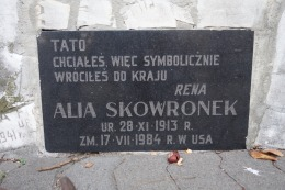 """Father, You wanted to, so you symbolically returned to your country."" Alia Skowronek died in the USA"