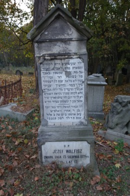 Tombstone of Józef Walfisz. A distant ancestor?