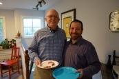 Jeremy and Bob (descendant of Abraham/John Piwko and Bertha/Blima Kolska)