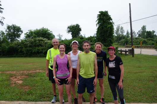 Six sweaty runners!