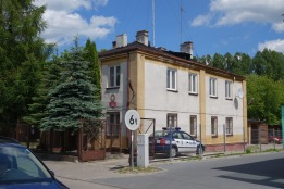 Bolimów synagogue, now the police station at 6 Farna Street