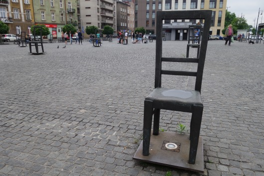 Chair monument in Ghetto Heroes Square