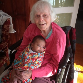 Mama with her youngest grandson Charlie, 2015