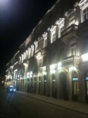 Próżna Street at night