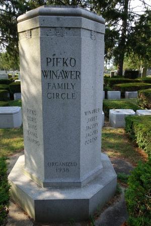 Pifko-Winawer Family Circle, New Montefiore Cemetery, Organized 1938