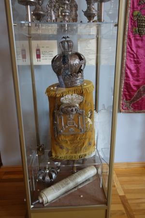 Torah, crown and cover, Leszno Museum.